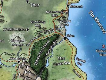 Mapa do norte de Phlan