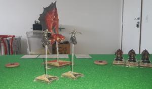 Dragão vermelho & Wraiths vs Hobgoblins